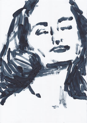 060 , acrylic on paper , 29.7 x 21cm , Selina Saranova