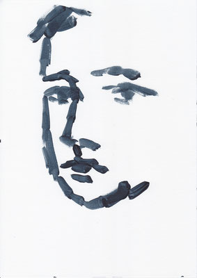 028 , acrylic on paper , 29.7 x 21cm , Selina Saranova
