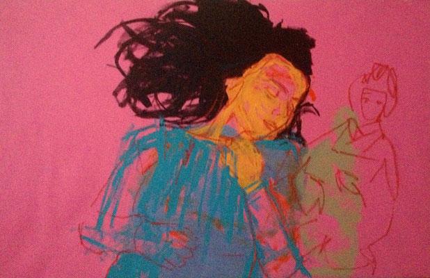 are you sleeping? 95x146cm. acrylic on canvas