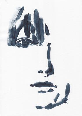 009 , acrylic on paper , 29.7 x 21cm , Selina Saranova