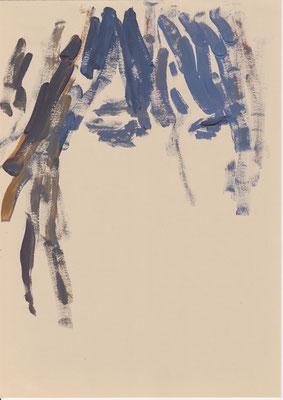 107 , acrylic on paper , 29.7 x 21cm , Selina Saranova