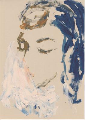 120 , acrylic on paper , 29.7 x 21cm , Selina Saranova