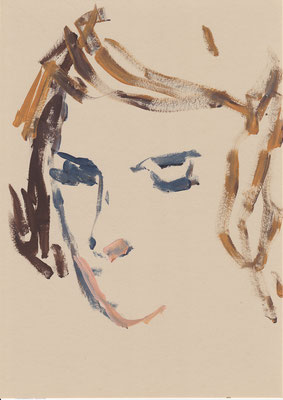 102 , acrylic on paper , 29.7 x 21cm , Selina Saranova