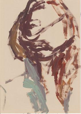 119 , acrylic on paper , 29.7 x 21cm , Selina Saranova