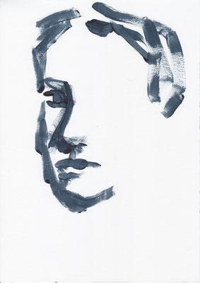 027 , acrylic on paper , 29.7 x 21cm , Selina Saranova