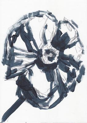 075 , acrylic on paper , 29.7 x 21cm , Selina Saranova