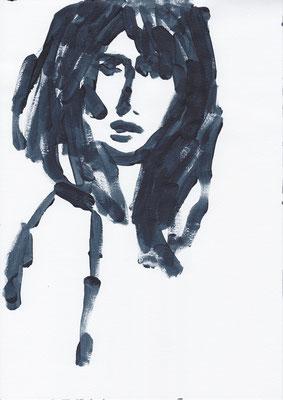 070 , acrylic on paper , 29.7 x 21cm , Selina Saranova