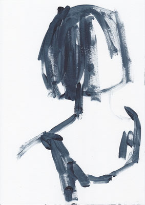 036 , acrylic on paper , 29.7 x 21cm , Selina Saranova