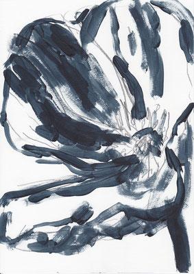 074 , acrylic on paper , 29.7 x 21cm , Selina Saranova