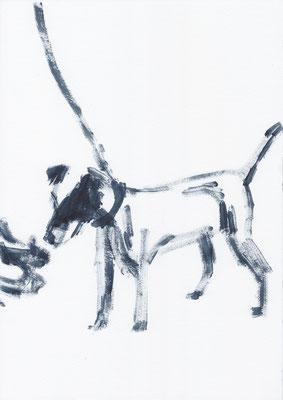 059 , acrylic on paper , 29.7 x 21cm , Selina Saranova