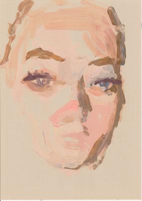 116 , acrylic on paper , 29.7 x 21cm , Selina Saranova