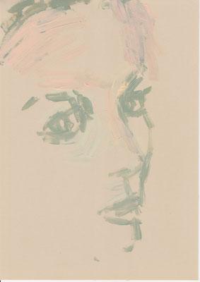126 , acrylic on paper , 29.7 x 21cm , Selina Saranova