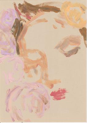 101 , acrylic on paper , 29.7 x 21cm , Selina Saranova