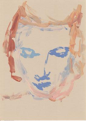 110 , acrylic on paper , 29.7 x 21cm , Selina Saranova
