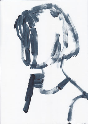 029 , acrylic on paper , 29.7 x 21cm , Selina Saranova