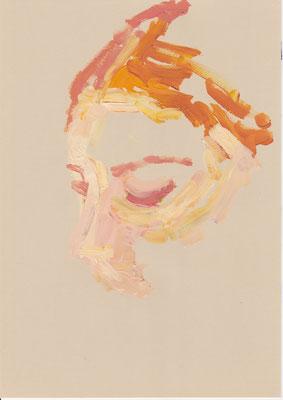 122 , acrylic on paper , 29.7 x 21cm , Selina Saranova