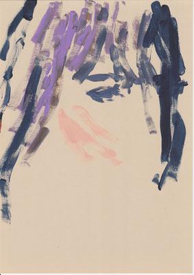 103 , acrylic on paper , 29.7 x 21cm , Selina Saranova