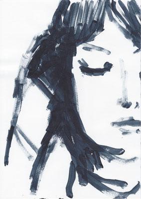 020 , acrylic on paper , 29.7 x 21cm , Selina Saranova