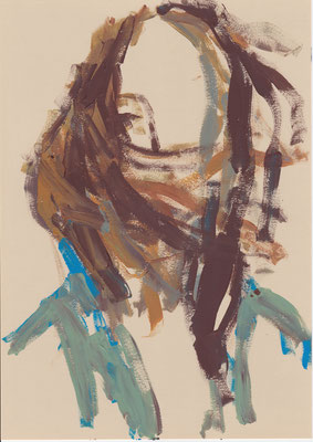 121 , acrylic on paper , 29.7 x 21cm , Selina Saranova