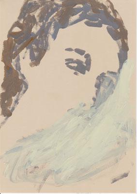 092 , acrylic on paper , 29.7 x 21cm , Selina Saranova