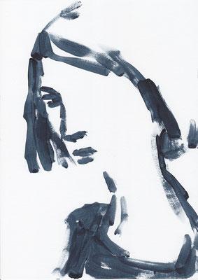 055 , acrylic on paper , 29.7 x 21cm , Selina Saranova