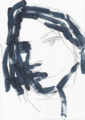 079 , acrylic on paper , 29.7 x 21cm , Selina Saranova