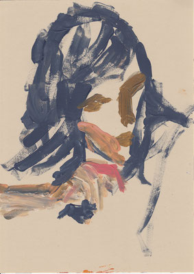 095 , acrylic on paper , 29.7 x 21cm , Selina Saranova