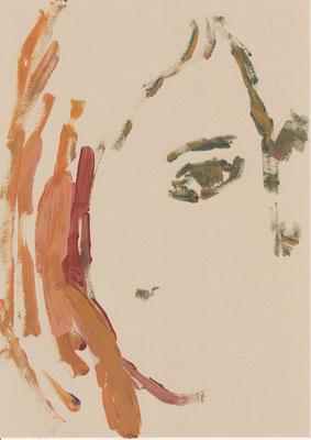 134 , acrylic on paper , 29.7 x 21cm , Selina Saranova