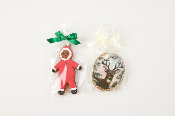 【GS306/GS310】Xmas Cookie / ジンジャーボーイ、鹿 各1個 ¥602 +tax