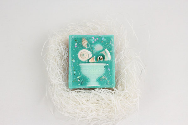 【GS492】「Heavenly / atta girl」 aroma wax sachet (ハートスクエア)pineapple x blackberry x peppermint ¥3,530 +tax