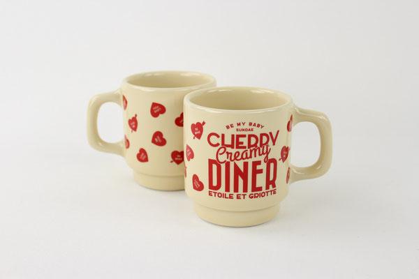 【GS293】Etoile et Griotte / CHERRY CREAMY DINERマグカップ ¥3,000 +tax