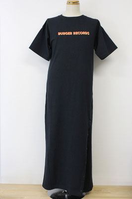 【GS211/212】X-girl × BURGER RECORDS SNAPPED TEE DRESS (BLACK/1,2/表) ¥8,000 +tax