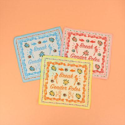 【GS789】No Lady Swears / Handkerchief 各¥1,100 +tax