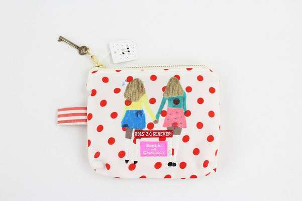 【GS166】Sophie et Chocolat - Girl Pouch ¥3,700 +tax