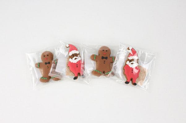 【GS308】Mini Xmas Cookie / サンタ、ジンジャーマン 各1個 ¥250 +tax