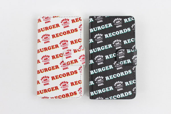 【GS198/199】X-girl × BURGER RECORDS FLIP CASE (WHITE/BLACK) ¥5,000 +tax