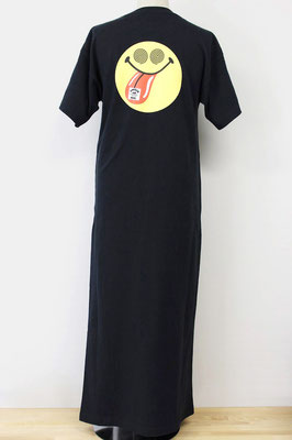 【GS211/212】X-girl × BURGER RECORDS SNAPPED TEE DRESS (BLACK/1,2/裏) ¥8,000 +tax