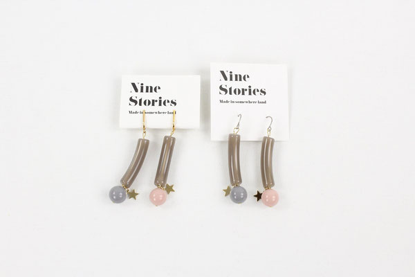 【GS387/GS388】NINE STORIES - アクリルボールピアス/イヤリング ¥3,000 +tax