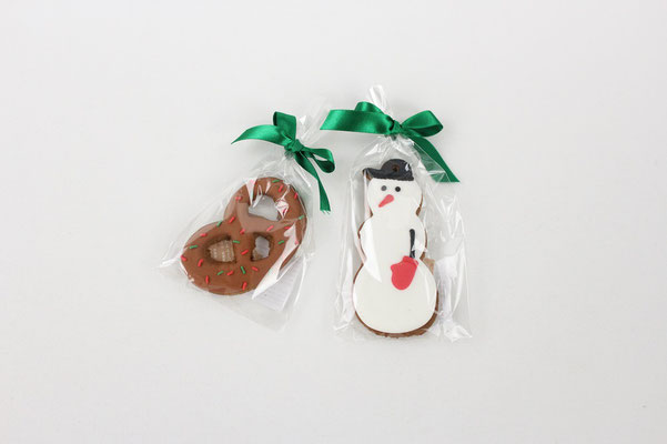 【GS307/GS309】Xmas Cookie / プレッツェル、スノーマン 各1個 ¥556 +tax