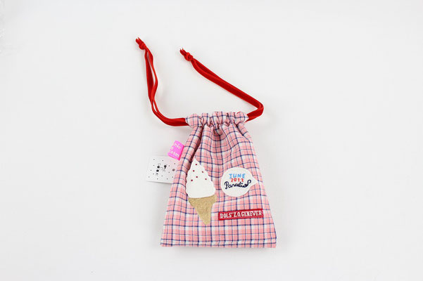 【GS167】Sophie et Chocolat - Drawing Pouch ¥2,700 +tax