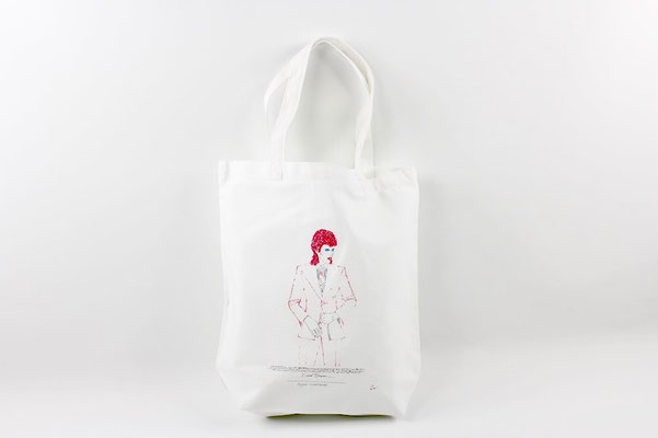 【GS242】DAVID BOWIE TOTE BAG (WHITE) ¥2,900 +tax