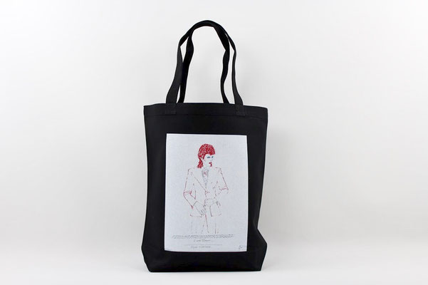 【GS243】DAVID BOWIE TOTE BAG (BLACK) ¥2,900 +tax