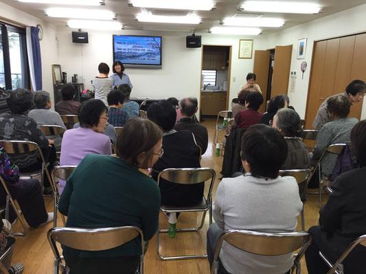 南寿美ヶ丘地区福祉委員会さま(富田林市)にお招きいただいた地域サロンの様子です。