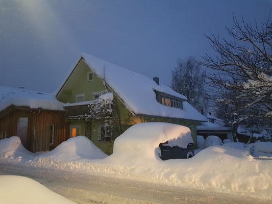 Unser Winterquartier im Allgäu...mein Auto hält Winterschlaf