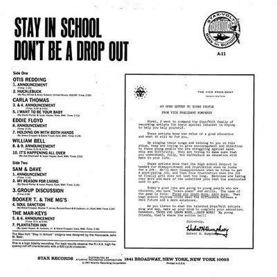 LP Stay In School - Don't Be A Drop Out - verso