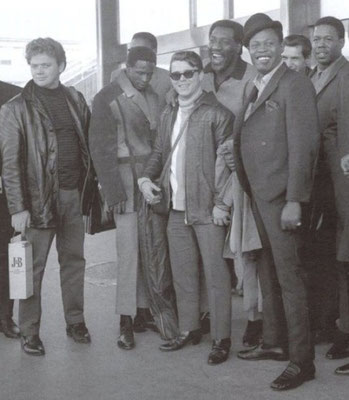 "the Funky Soul story - from left to right : Donald ""Duck"" Dunn, Arthur Conley, Wayne Jackson, Otis Redding, Sam Moore, Steve Cropper and Eddie Floyd"