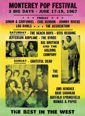the Funky Soul story - affiche Monterey Pop Festival, june 1967