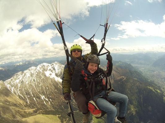 die Dolomiten im Hintergrund