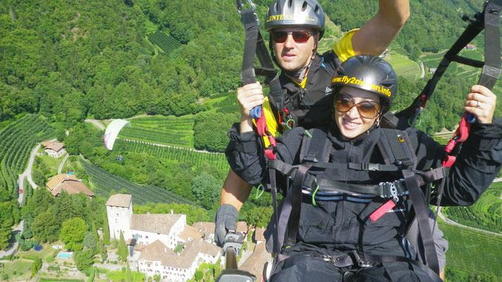Paragliding Tandem POC Schloss Lebenberg am Marlinger Berg - Castel Monteleone al Monte di Marlengo