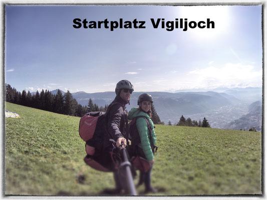Vor dem Start mit Blick Richtung Dolomiten